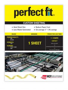 Perfect Fit Flyer - Custom Paper and Board Sheeting from WCP Solutions