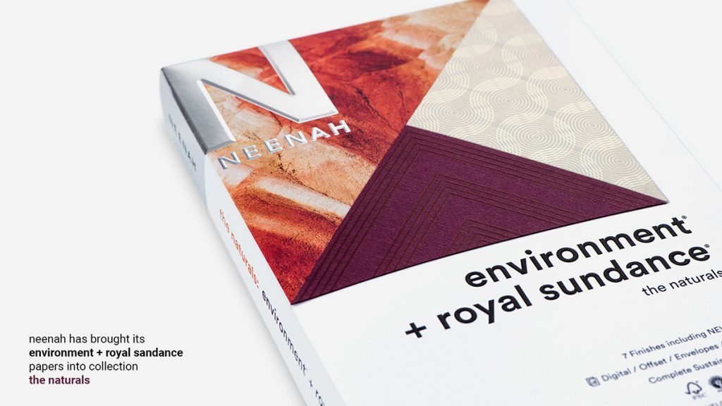 The new Neenah Swatch Book - The Naturals - combing Environment and Royal Sundance into one book