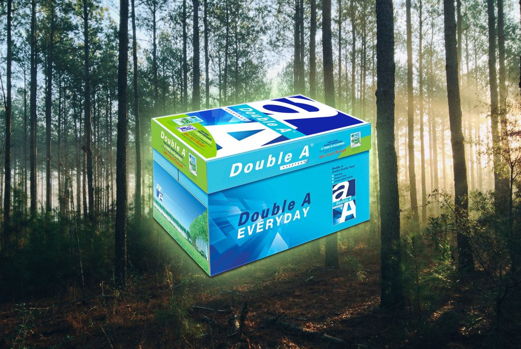 cartons of Double A - One Dream, One Tree cartons